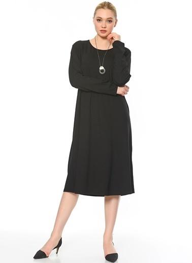 Butik Triko Tunik Elbise Siyah
